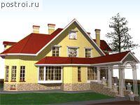 Проект дома из пенобетона. a-318-2p.