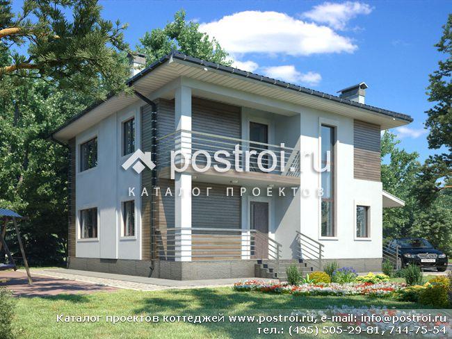 Уютный двухэтажный дом № B-162-1P