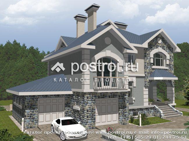 Проект дома с мансардой и большой гостиной № J-141-1P