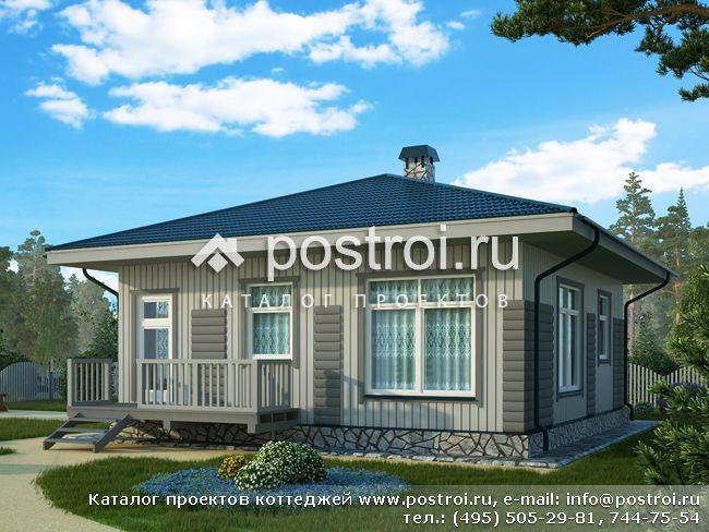 Проект одноэтажного каркасного дома № C-061-1S