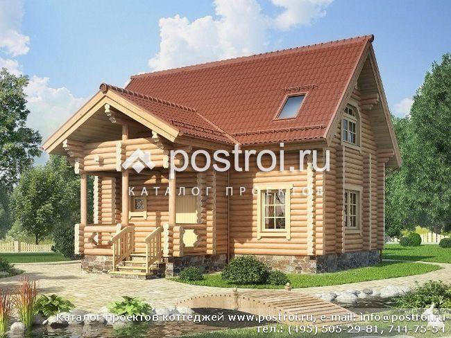 Проект дома сруба d-081-1d