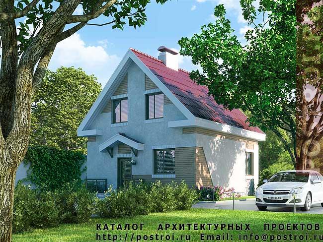Планы домов одноэтажных с мансардой и гаражом