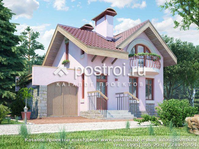 Проект деревянного дома 65х92