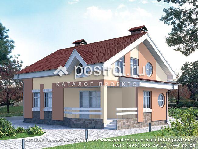 Проект дома с мансардой № c 214 1k