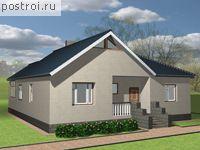 D-095-1P.  Проект одноэтажного дома из пенобетона.