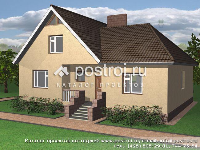 2 этажный дом из пенобетона D-112-1P