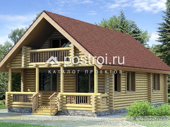 Проект одноэтажного мансардного дома № D-122-1D