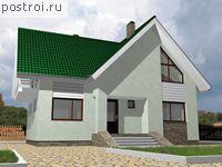 Проект двухэтажного дома, материалом постройки которого выбран пенобетон.  В доме предусмотрен мансардный...