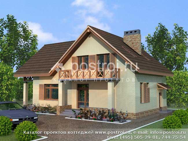Проекты домов из пеноблоков / Проекты