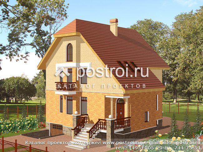 Проект газобетонного дома j-0074 проекты домов из пеноблоков.