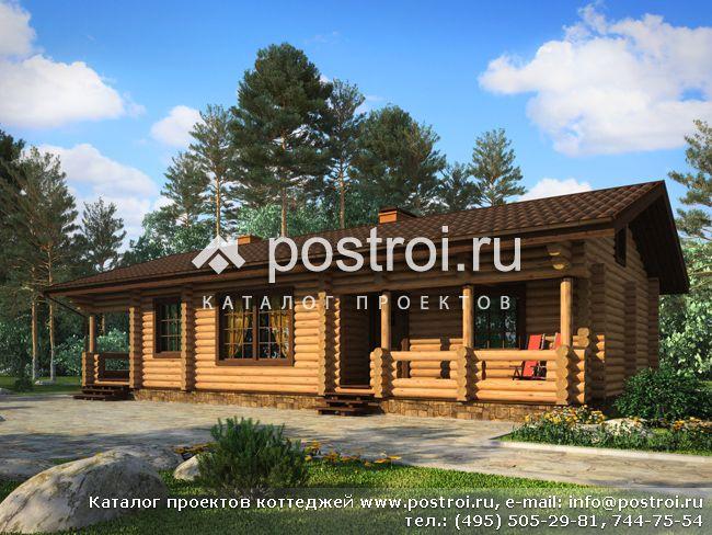 Проект деревянных домов из бруса одноэтажные