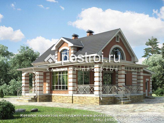 Проект дома с террасой № e 172 1k