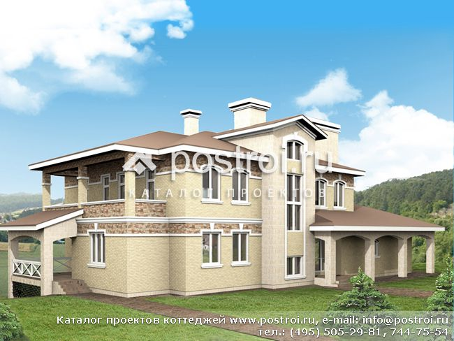 Проект кирпичного дома E-693-1K