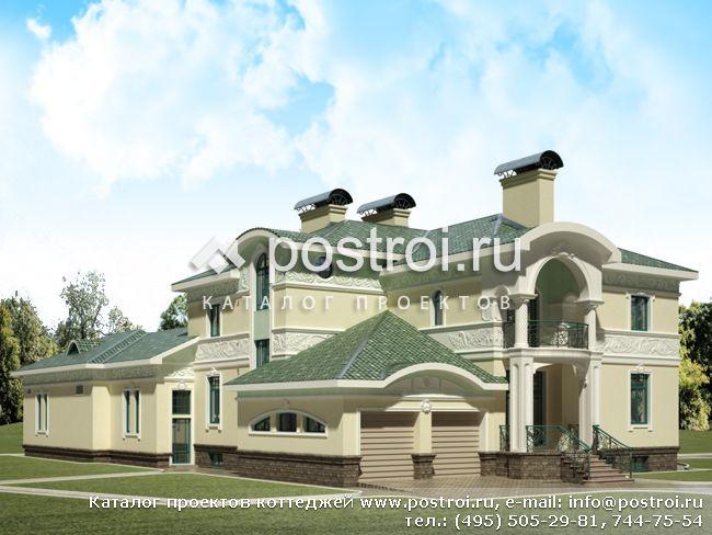 Проект дома с встроенным гаражом e 831
