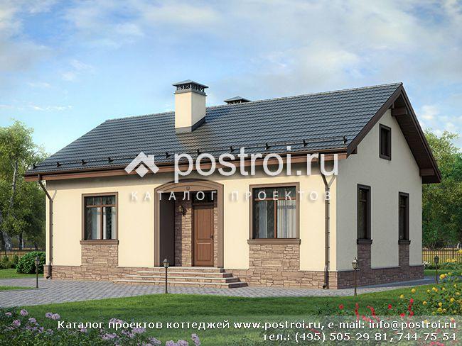 Одноэтажный дом, проект № F-083-1P