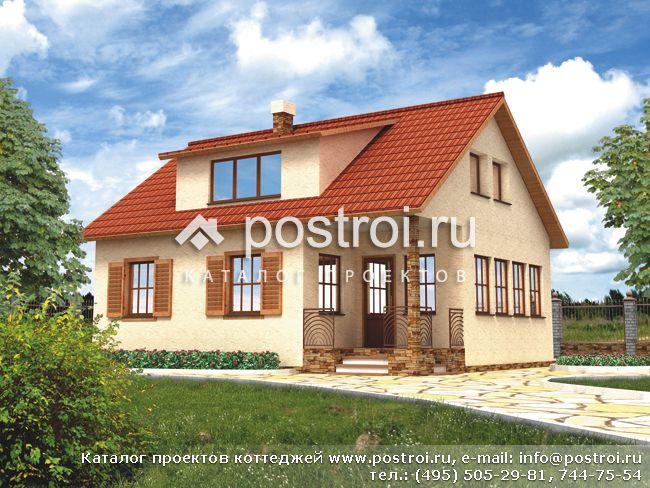 2 этажный деревянный дом № F-128-1S