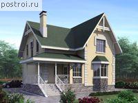 Проект дома с эркером и балконом № F-150-1P