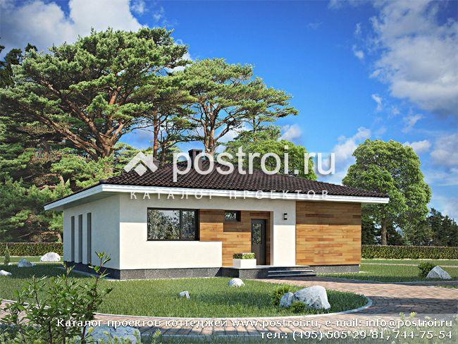 Проект одноэтажного дома 12х12 № G-111-1P