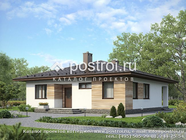 Чертежи: одноэтажный дом 12.2х12.2 № G-111-2P