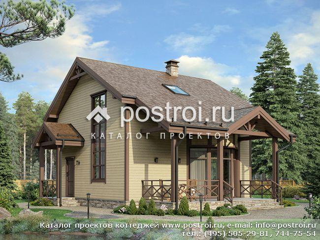 Проект каркасного дома № G-112-1S