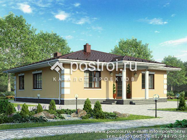 Одноэтажный дом до 150 кв № G-121-1P