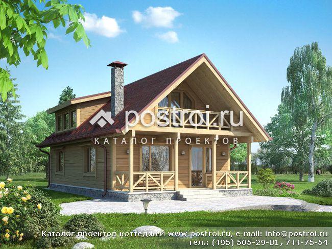 Проект: небольшой деревянный дом № G-127-1D