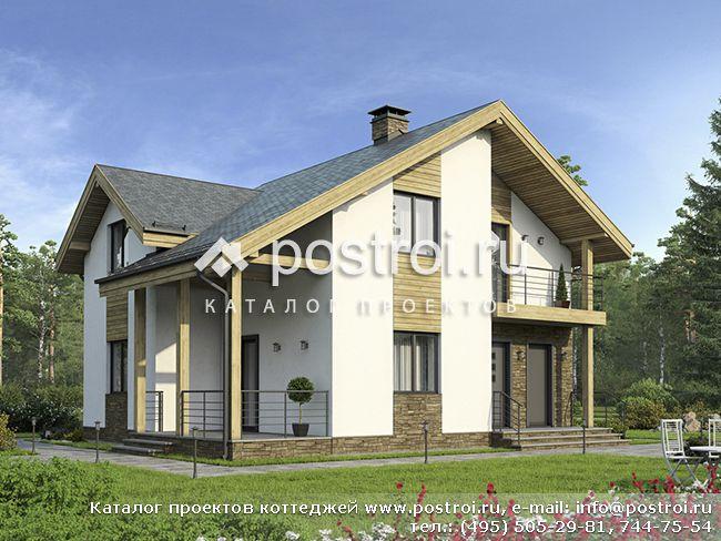 Загородный дом из теплой керамики № G-144-1K