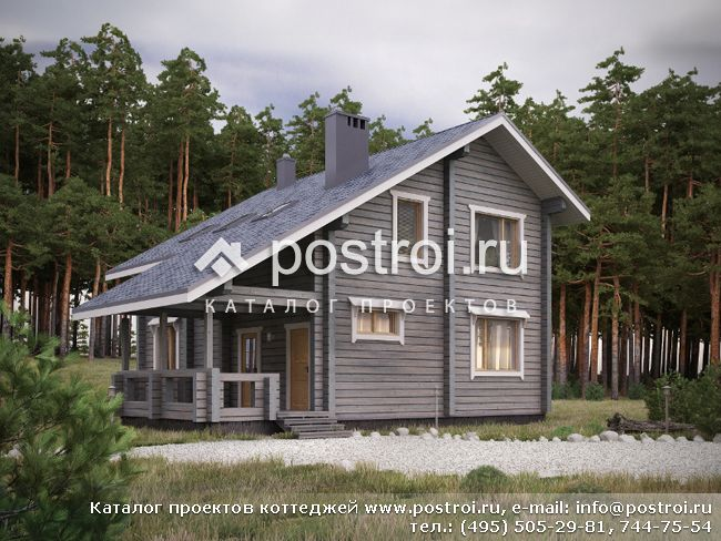 Проект дома из бруса 200х200 мм № G-146-1D