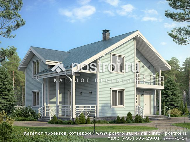 Проект дома деревянный каркас № G-160-1S