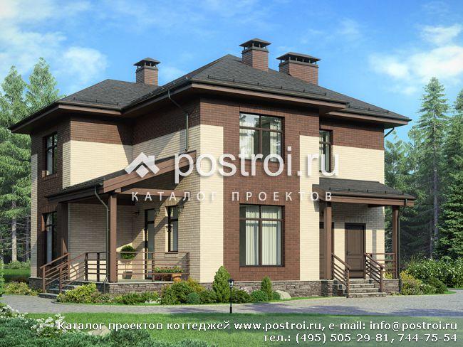 Проект двухэтажного дома с эркерами № G-165-1P