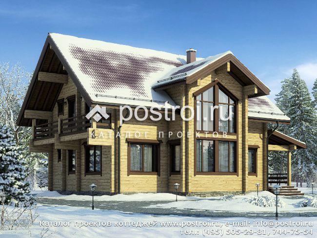 Дом из бруса со вторым светом № G-184-1D