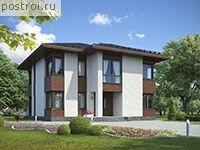 Двухэтажный дом из газобетона проект № G-221-1P