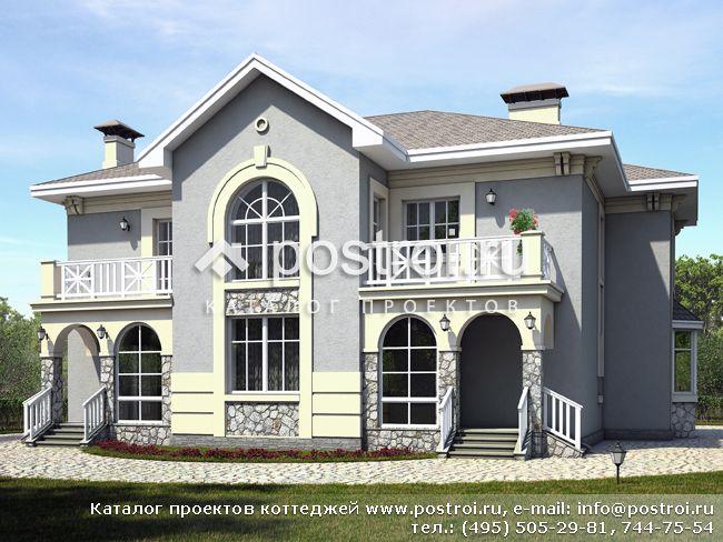 Каталог проектов домов и коттеджей - Дома из кирпича и