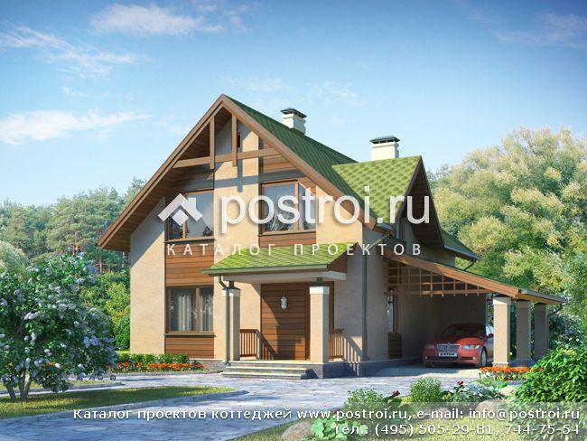 Двухэтажный дом 8 на 9 № I-129-1P