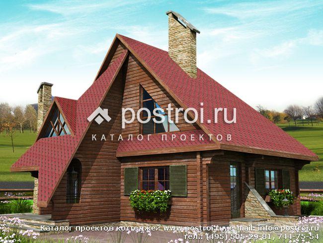 Деревянный дом-коттедж № J-108-1D