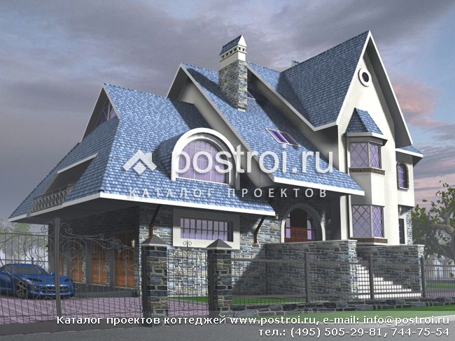 Проект цокольного 3 этажного дома № J-503-1K