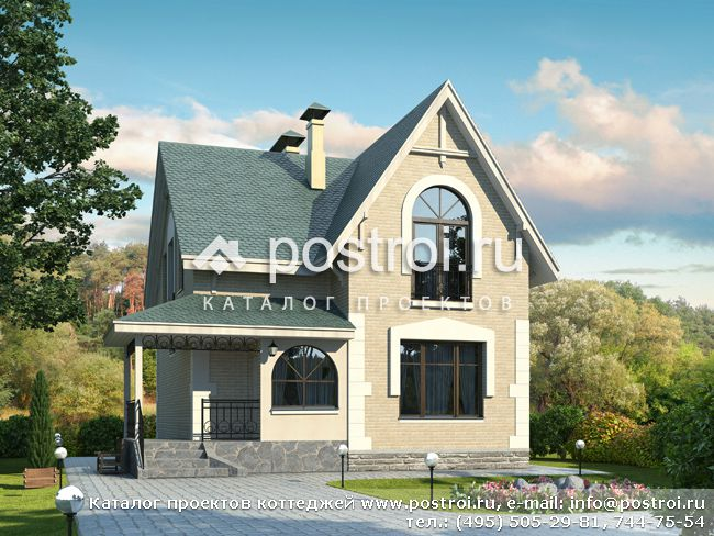 Проект красивого дома № L-115-