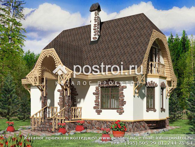 Проект сказочного дома № M-080-1P