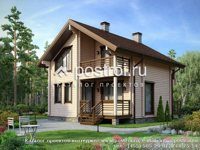 Проект дома из бруса № M-115-1D