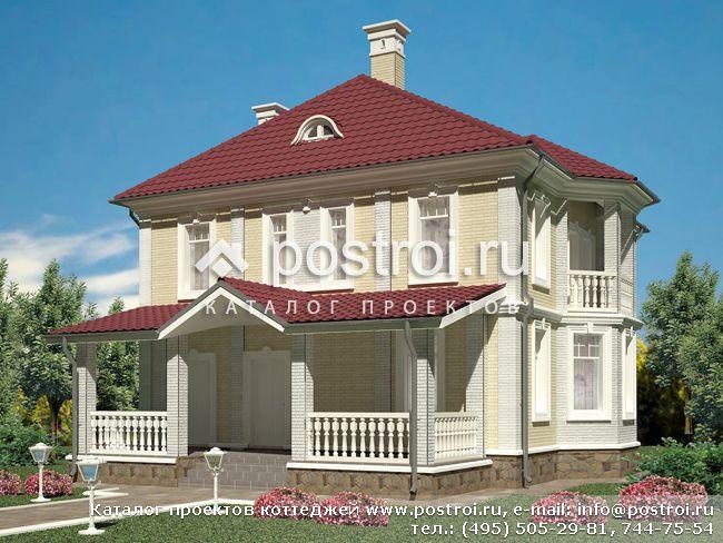Кирпичный дом 8 на 10 с мансардой фото