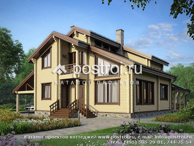Проект дома из клееного бруса № M-187-1D [M109 (11-21)]