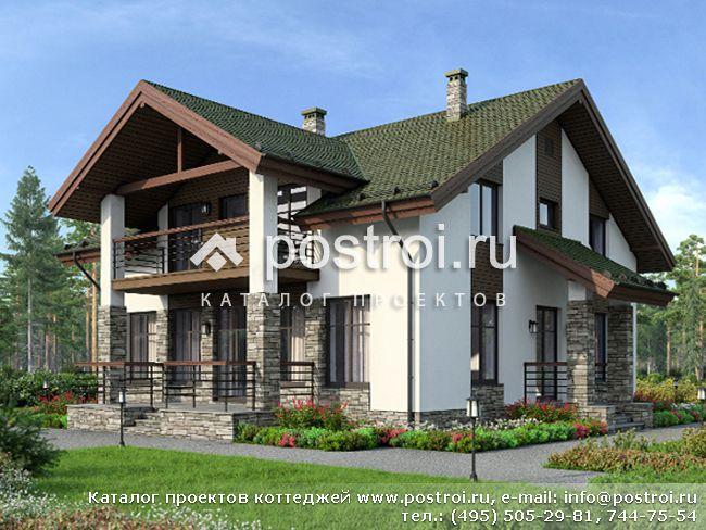 Проект кирпичного дома из теплой