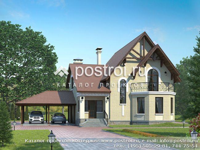Фото домов с мансардой и гаражом до 100 м2