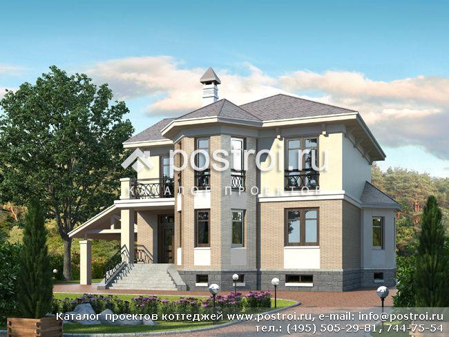 Современный особняк с цокольным этажом № M-248-1P