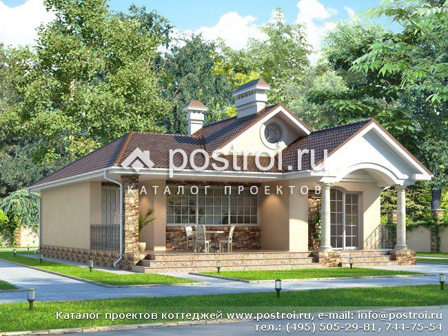 Одноэтажный дом с классическими фасадами № N-115-1K