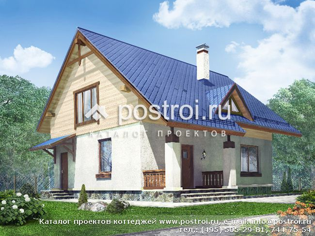 Дачного дома с мансардой n 117 1p