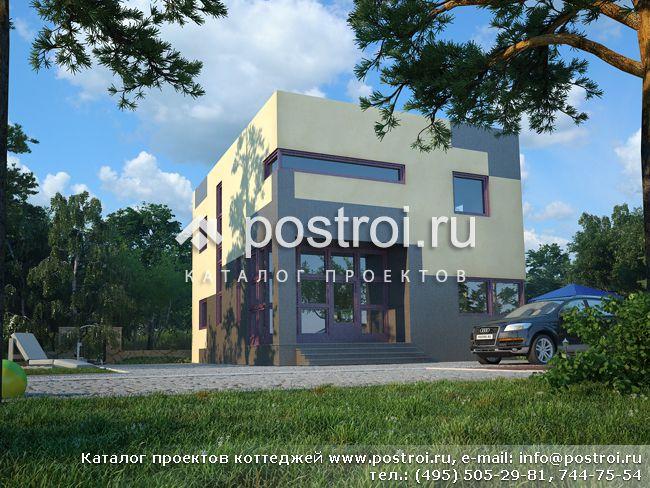 Проект дачного каркасно-щитового дома ЭльБрус ДД 004