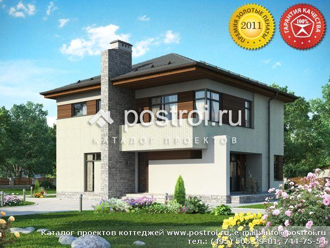 Дом из крупноформатных блоков rauf № O-203-1K