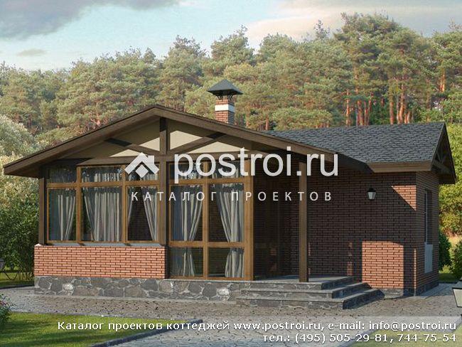 проекты одноэтажных домов с верандой