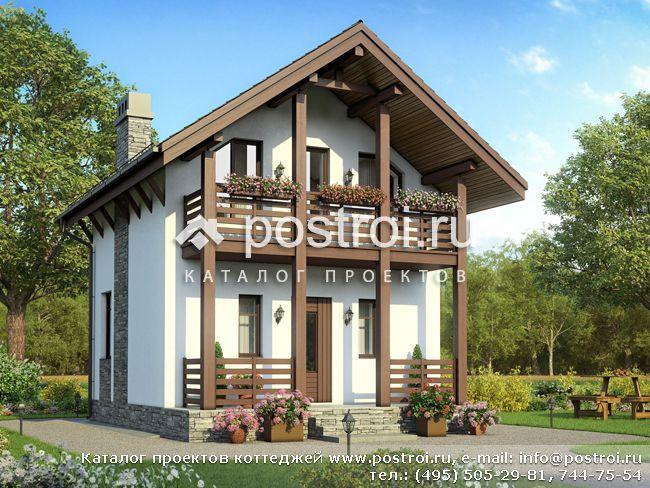 Проект дома до 50 кв.м № U-050-1P